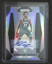 2017-18 Panini Prizm Silver Prizm Basketball Autograph 188 Sterling Brown
