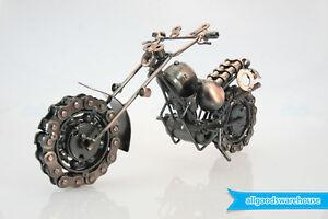 Scrap Metal Art Handmade Nuts & Bolts Dirt Bike Gift Motorbike Model Motorcycle