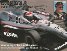 2000 Eddie Cheever signed Excite@Home Infiniti Dallara Indy Car postcard