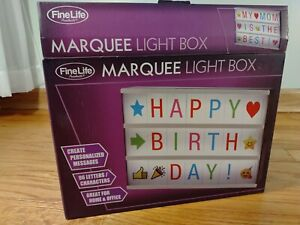 Light Up Marquee Letter Box