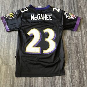 Willis McGahee #23 Baltimore Ravens Reebok Jersey Black Youth Small VTG NFL