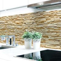 Küchenrückwand Steinwand Hell Premium Hart-PVC 0,4 mm selbstklebend