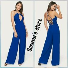 NWT BEBE TIE NECK JUMPSUIT SIZE M Sleek and sexy Look!! MRSP $139.00