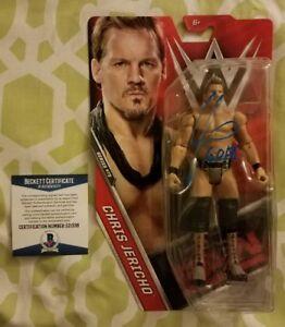 Chris Jericho signed WWE action figure series #75 Beckett/BAS #E21338 GOAT