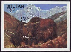"Bhutan-25NU 1984/Scott-418/Cat $8.00 ""YAK"" MNH Perforated Souvenir Sheet #MS1537"