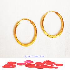 kapa gold earring hoop Diamond cut patterned carousel  small earrings