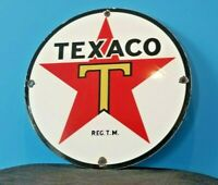 VINTAGE TEXACO AVIATION PORCELAIN GAS OIL SERVICE STATION TEXAS PUMP SIGN