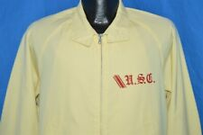 vintage 50s USC CHAMPION RUNNING MAN HARRINGTON ATHLETIC JACKET YELLOW LARGE L