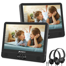 "12"" Dual Screen Portable DVD Player Car Backseat Headrest Moniter TV USB Battery"