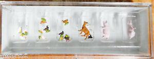 Preiser N #79093 Animals -- Set of Small Animals, Goat, Pigs, Chichens, Ducks