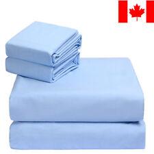 LivingBasics® 100% COTTON Deep Pocket Bed Sheet Set of 4pc with Pillowcase, 300T