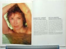 *MARLENE JOBERT => COUPURE DE PRESSE 2 PAGES 1988 / French clipping