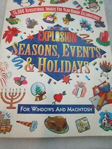 Art Explosion Seasons Events & Holidays For Windows 15000 Images CD-ROM