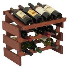 Dakota 12 Bottle Wine Rack with Display Top - Quad Row - WRD42 NEW