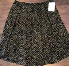 NEW LuLaRoe XL Elegant Collection Black & Gold Jacquard Madison Pocket Skirt