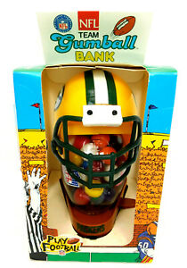 1996 Green Bay Packers NFL Team GUMBALL BANK Treasure Chest Novelty Co., New OS