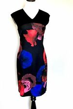 Ellen Tracy Black Red And Blue Rose Dress. NWT Size 12 Retail $149.50 Price $45