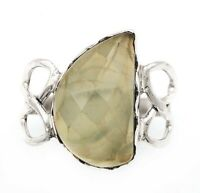 Natural Moss Prehnite 925 Solid Genuine Sterling Silver Ring Jewelry Sz 6 ED25-5
