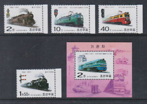 Korea 2002 Mint MNH Minisheets Railway Locomotives Steam Diesel Electric Trains