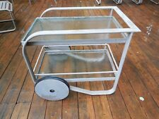 Vintage Mid Century Modern Brown Jordan Quantum Beverage Serving Cart Putty