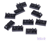 LEGO - 10 x Platte 1x2 mit Clip oben schwarz /  92280 NEUWARE