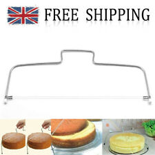 Silver 2 Wire Bread Slicer Leveler Cake Dough Cutter Tools Stainless Steel UK