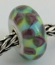 Authentic Trollbeads Turquoise Purple Chess Bead Charm 61368, New