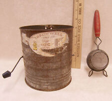 Vintage Bromwell 5 Cup Flour Sifter Measure Kitchen Sieve Cup Strainer Lot of 2