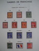 FRANCE: COLLECTION COMPLETE TIMBRES DE FRANCHISE MILITAIRE NEUFS xx 1901 - 1964.