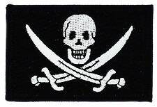 FLAG PATCH PATCHES JACK RACKHAM PIRATE JOLLY ROGER  IRON ON EMBROIDERED SMALL