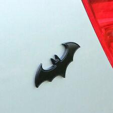 3d Black Chrome Badge Emblem Batman Logo Decal Car Decor Sticker Car Accessories