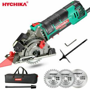 HYCHIKA Mini Circular Saw Laser Cutting 3 Blades DIY Tool Metal Wood Cutting-UK.