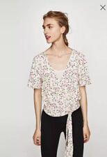 Zara W&B vestido de dos piezas Estampado Floral Top puro
