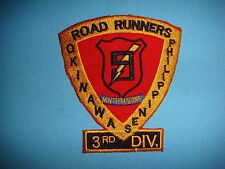 PATCH, US 3rd MARINE DIVISION 9th MARINE REGIMENT ROAD RUNNERS