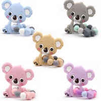 Koala Silicone Beads Teether Baby Teething Bracelet Toys Chew Sensory Rattles
