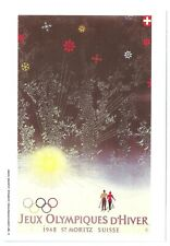 OLYMPIC GAMES ===  ST MORITZ .1948 -------- MARS POSTCARD