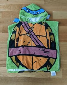 Teenage Mutant Ninja Turtles Hooded Towel Swim Cover Leonardo Boy Girl 4 5 6 7 8