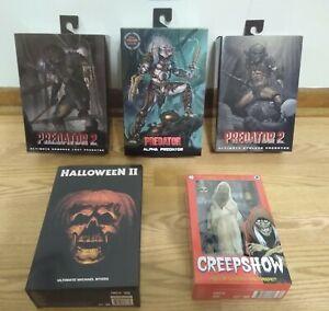NECA Predator, Halloween 2, Creepshow 5 Item Sealed Blemished Lot #2!!!