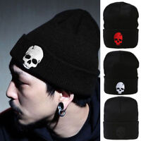 Winter Unisex Men Skull Knitted Beanie Reversible Baggy Cap Warm Ski Hiphop Hat
