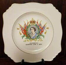 Vintage Queen Elizabeth II 1953 Coronation Commemorative Plate Royal Winton