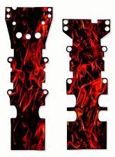 T-Maxx / E-Maxx TRX Skid Plate Protectors Red Flames - For Metal Skids