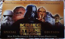 1997 Krieg der Sterne Star Wars SE Video Papp-Banner (Super SELTEN) Groß