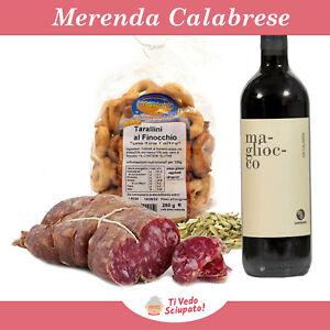 Prodotti Tipici Calabresi Soppressata Dolce Taralli Finocchio Vino Artigianali
