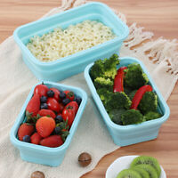 Portable Travel Picnic Collapsible Silicone Foldable Lunch Box Food Container 03
