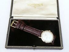 MENS BOXED VINTAGE 9CT GOLD LONGINES FLAGSHIP AUTOMATIC GENTS SWISS WATCH  FWO