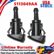 2x Windshield Washer Wiper Fluid Spray Nozzle for Dodge Ram 1500 2500 3.5L 5.7L