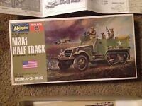 1:72 Scale Hasegawa M3A1 Half Track Plastic Model Kit