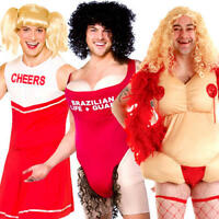 Drag Mens Fancy Dress Novelty Funny Stag Party Night Crossdress Adults Costumes