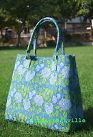Indian Mandala Tote Bag Block Printed Handbag Cotton Women Satchel Purse Lady-5