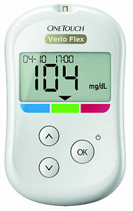 OneTouch Verio Flex Blood Glucose Meter MG / DL Plus Test Strip - New + Ovp from
